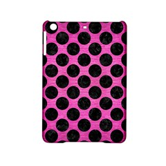 Circles2 Black Marble & Pink Brushed Metal Ipad Mini 2 Hardshell Cases by trendistuff