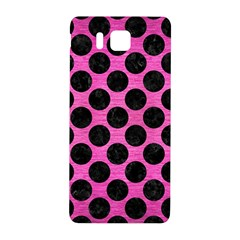 Circles2 Black Marble & Pink Brushed Metal Samsung Galaxy Alpha Hardshell Back Case by trendistuff