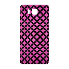 Circles3 Black Marble & Pink Brushed Metal Samsung Galaxy Alpha Hardshell Back Case by trendistuff