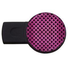 Circles3 Black Marble & Pink Brushed Metal (r) Usb Flash Drive Round (4 Gb) by trendistuff