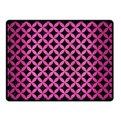 Circles3 Black Marble & Pink Brushed Metal (r) Double Sided Fleece Blanket (small)  by trendistuff