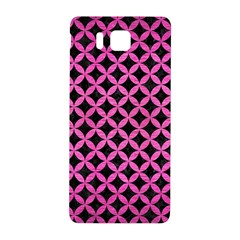 Circles3 Black Marble & Pink Brushed Metal (r) Samsung Galaxy Alpha Hardshell Back Case by trendistuff