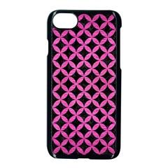 Circles3 Black Marble & Pink Brushed Metal (r) Apple Iphone 8 Seamless Case (black) by trendistuff