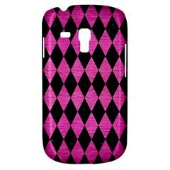 Diamond1 Black Marble & Pink Brushed Metal Galaxy S3 Mini by trendistuff
