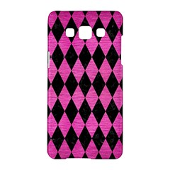 Diamond1 Black Marble & Pink Brushed Metal Samsung Galaxy A5 Hardshell Case  by trendistuff