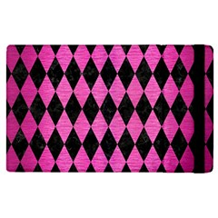 Diamond1 Black Marble & Pink Brushed Metal Apple Ipad Pro 12 9   Flip Case by trendistuff