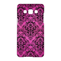 Damask1 Black Marble & Pink Brushed Metal Samsung Galaxy A5 Hardshell Case  by trendistuff