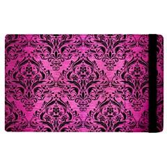 Damask1 Black Marble & Pink Brushed Metal Apple Ipad Pro 9 7   Flip Case by trendistuff