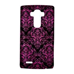 Damask1 Black Marble & Pink Brushed Metal (r) Lg G4 Hardshell Case by trendistuff