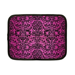 Damask2 Black Marble & Pink Brushed Metal Netbook Case (small)  by trendistuff
