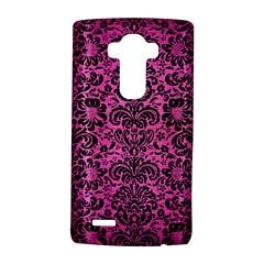 Damask2 Black Marble & Pink Brushed Metal Lg G4 Hardshell Case by trendistuff