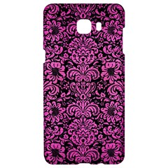 Damask2 Black Marble & Pink Brushed Metal (r) Samsung C9 Pro Hardshell Case  by trendistuff
