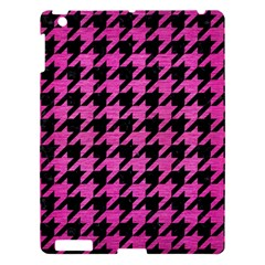 Houndstooth1 Black Marble & Pink Brushed Metal Apple Ipad 3/4 Hardshell Case by trendistuff
