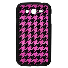 Houndstooth1 Black Marble & Pink Brushed Metal Samsung Galaxy Grand Duos I9082 Case (black) by trendistuff