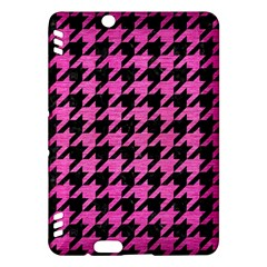 Houndstooth1 Black Marble & Pink Brushed Metal Kindle Fire Hdx Hardshell Case by trendistuff