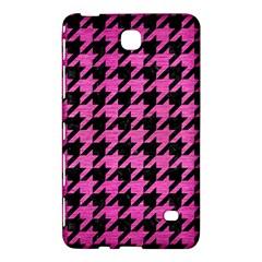 Houndstooth1 Black Marble & Pink Brushed Metal Samsung Galaxy Tab 4 (8 ) Hardshell Case  by trendistuff