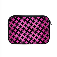 Houndstooth2 Black Marble & Pink Brushed Metal Apple Macbook Pro 15  Zipper Case by trendistuff