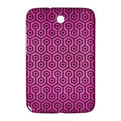 Hexagon1 Black Marble & Pink Brushed Metal Samsung Galaxy Note 8 0 N5100 Hardshell Case  by trendistuff