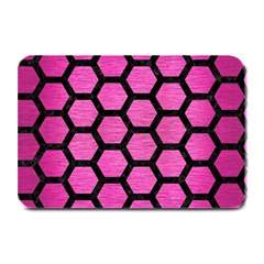 Hexagon2 Black Marble & Pink Brushed Metal Plate Mats by trendistuff