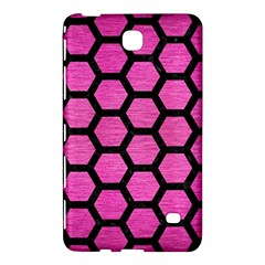 Hexagon2 Black Marble & Pink Brushed Metal Samsung Galaxy Tab 4 (8 ) Hardshell Case  by trendistuff