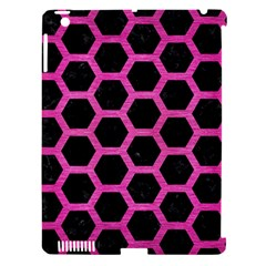 Hexagon2 Black Marble & Pink Brushed Metal (r) Apple Ipad 3/4 Hardshell Case (compatible With Smart Cover) by trendistuff