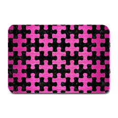 Puzzle1 Black Marble & Pink Brushed Metal Plate Mats by trendistuff