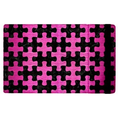 Puzzle1 Black Marble & Pink Brushed Metal Apple Ipad Pro 12 9   Flip Case by trendistuff