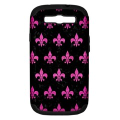 Royal1 Black Marble & Pink Brushed Metal Samsung Galaxy S Iii Hardshell Case (pc+silicone) by trendistuff
