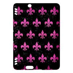 Royal1 Black Marble & Pink Brushed Metal Kindle Fire Hdx Hardshell Case by trendistuff