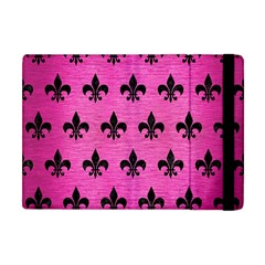 Royal1 Black Marble & Pink Brushed Metal (r) Apple Ipad Mini Flip Case by trendistuff