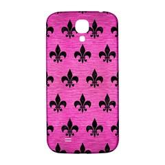Royal1 Black Marble & Pink Brushed Metal (r) Samsung Galaxy S4 I9500/i9505  Hardshell Back Case by trendistuff