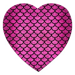 Scales1 Black Marble & Pink Brushed Metal Jigsaw Puzzle (heart) by trendistuff