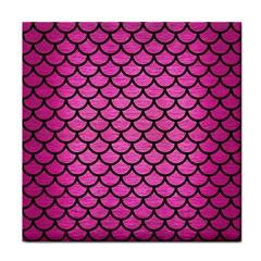 Scales1 Black Marble & Pink Brushed Metal Face Towel by trendistuff