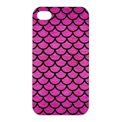 Scales1 Black Marble & Pink Brushed Metal Apple Iphone 4/4s Hardshell Case by trendistuff