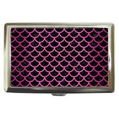 Scales1 Black Marble & Pink Brushed Metal (r) Cigarette Money Cases by trendistuff