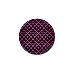 Scales1 Black Marble & Pink Brushed Metal (r) Golf Ball Marker by trendistuff
