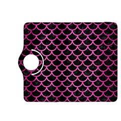 Scales1 Black Marble & Pink Brushed Metal (r) Kindle Fire Hdx 8 9  Flip 360 Case by trendistuff