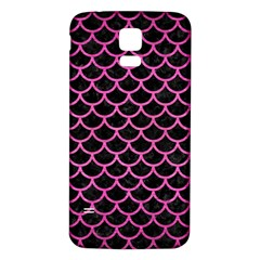 Scales1 Black Marble & Pink Brushed Metal (r) Samsung Galaxy S5 Back Case (white) by trendistuff