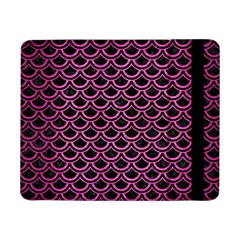 Scales2 Black Marble & Pink Brushed Metal (r) Samsung Galaxy Tab Pro 8 4  Flip Case by trendistuff