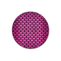 Scales3 Black Marble & Pink Brushed Metal Magnet 3  (round) by trendistuff