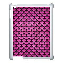 Scales3 Black Marble & Pink Brushed Metal Apple Ipad 3/4 Case (white) by trendistuff