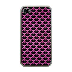 Scales3 Black Marble & Pink Brushed Metal (r) Apple Iphone 4 Case (clear) by trendistuff