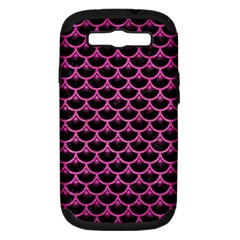 Scales3 Black Marble & Pink Brushed Metal (r) Samsung Galaxy S Iii Hardshell Case (pc+silicone) by trendistuff