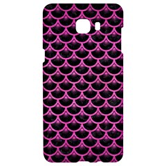 Scales3 Black Marble & Pink Brushed Metal (r) Samsung C9 Pro Hardshell Case  by trendistuff