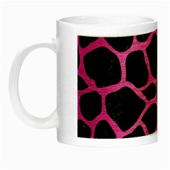 Skin1 Black Marble & Pink Brushed Metal Night Luminous Mugs by trendistuff