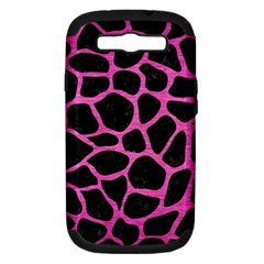 Skin1 Black Marble & Pink Brushed Metal Samsung Galaxy S Iii Hardshell Case (pc+silicone) by trendistuff