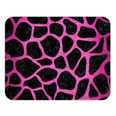 Skin1 Black Marble & Pink Brushed Metal Double Sided Flano Blanket (large)  by trendistuff