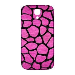 Skin1 Black Marble & Pink Brushed Metal (r) Samsung Galaxy S4 I9500/i9505  Hardshell Back Case by trendistuff