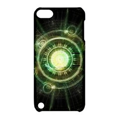 Green Chaos Clock, Steampunk Alchemy Fractal Mandala Apple Ipod Touch 5 Hardshell Case With Stand by beautifulfractals