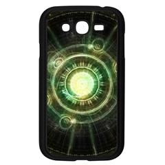 Green Chaos Clock, Steampunk Alchemy Fractal Mandala Samsung Galaxy Grand Duos I9082 Case (black) by beautifulfractals